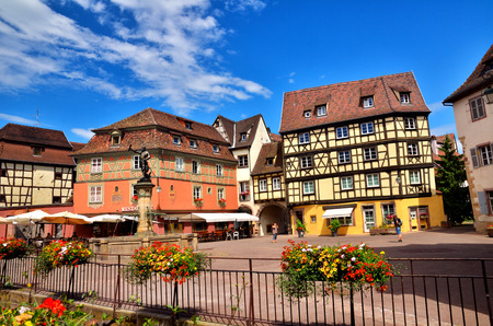 colmar: Colmar, french tourist destination in Alsace, situated on the Alsatian wine ruote Editorial