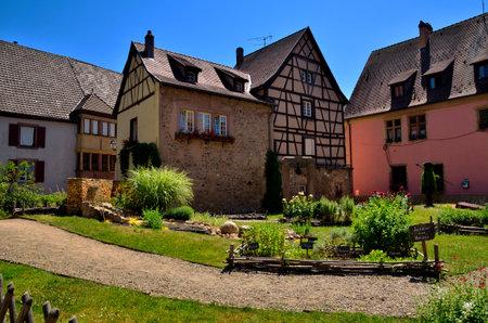 alsace: Turckheim, french tourist destination in Alsace Editorial