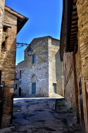 alley: Bevagna, medieval walled town, Umbria region, Italy Stock Photo