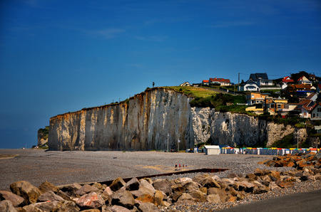 normandy: French destination, white cliffs in Normandy