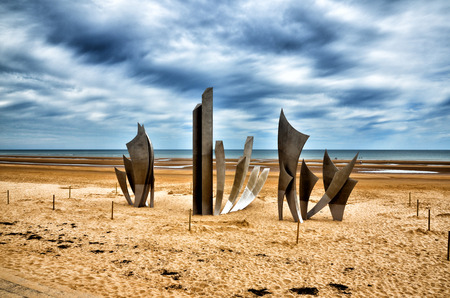 Omaha Beach was one of the landing area of the Normandy Invasion of World War II Stok Fotoğraf
