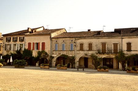 exterior shape: French destination, Labastide Darmagnac Editorial
