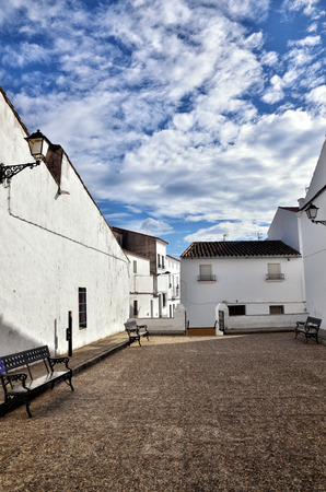 spanish village: Typical white spanish village in Andalucia region Stock Photo