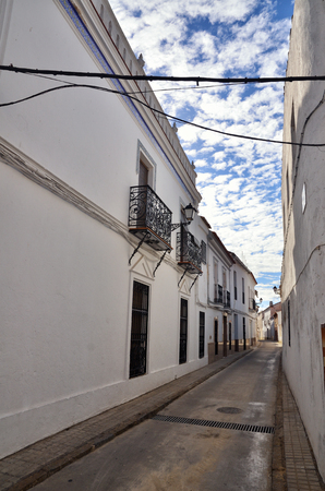 spanish village: Typical white spanish village in Andalucia region Stock Photo