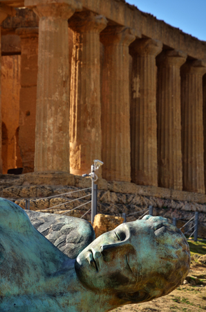 Italian destination, archaeological site in the Valley of the Temples in Agrigento, Sicily