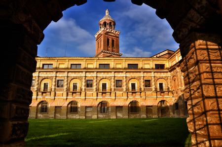 Historical city of Mantua, Mantova, on Mincio river Stock Photo