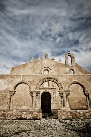 Siracusa, Sicily, church of San Giovanni, Italian destination. Catacombs entrance