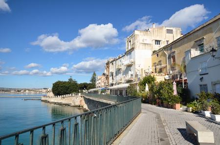 ortigia: Old centre town of Syracuse, Sicily, on Ortigia island