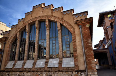 ebro: Architectural details in Tortosa, medieval town on Ebro river, tourist destination in Catalonia Stock Photo