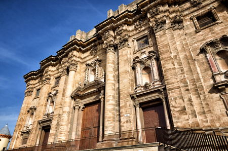 ebro: Architectural details of the Cathedral of Tortosa, medieval town on Ebro river, tourist destination in Catalonia