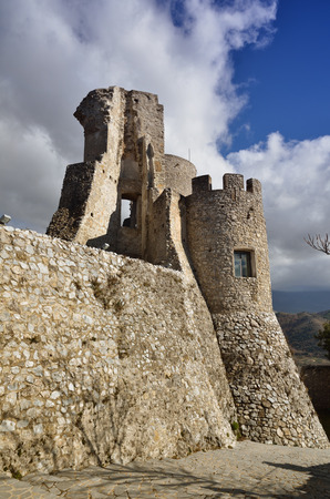 Norman castle at the top of the village of Morano Calabro, one of most beautiful Italian hamlets