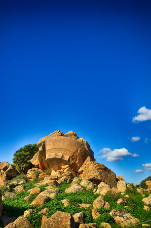 archaeological: Italian destination, archaeological site in the Valley of the Temples in Agrigento, Sicily