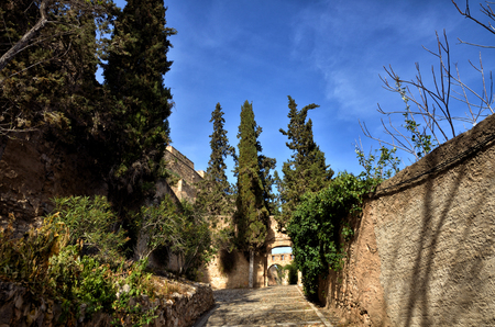 ebro: Architectural details in Tortosa, medieval town on Ebro river, tourist destination in Catalonia Editorial