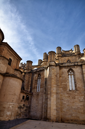 catalunya: Architectural details of the Cathedral of Tortosa, medieval town on Ebro river, tourist destination in Catalonia
