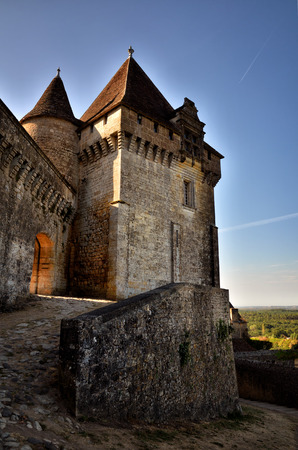 The picturesque castle of Biron in Dordogne, France Stock Photo