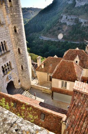Rocamadour, one of the most beautiful village in France, details of the Sanctuary and the chapels Editorial
