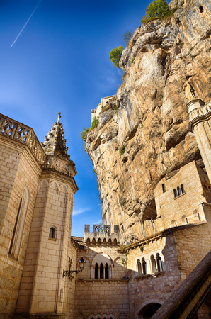 Rocamadour, one of the most beautiful village in France, details of the Sanctuary and the chapels Stock Photo