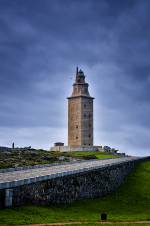 The Tower of Hercules is the only fully preserved Roman lighthouse that is still used for maritime signaling, it is located near the town of A Coru?a in the north of Spain