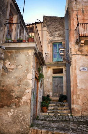 Scicli is a famous touristic destination in Sicily, its historical center is an expression of the creative genius of the late Baroque age, along with other 7 Val di Noto's towns Archivio Fotografico