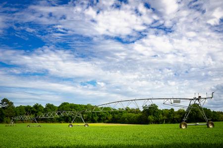 Modern Pivot crop irrigation system for farm management