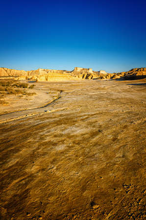 Bardenas Reales is a Spanish natural park of wild beauty, it is a semi-desert landscape in which erosion has carved whimsical shapes to create almost lunar effects with badlands and lonely hills