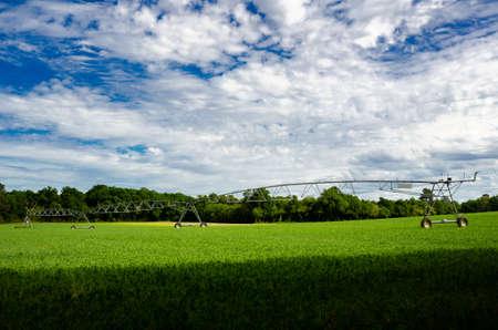 Modern Pivot crop irrigation system for farm management Stock fotó