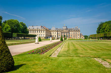 Luneville Castle is located in Lorraine region, France, it is a modest replica of Versailles. Gardens details