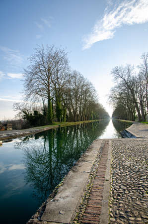 The magnificent Cacor canal bridge is located in Moissac, France, it allows navigation on the Tarn river Editorial