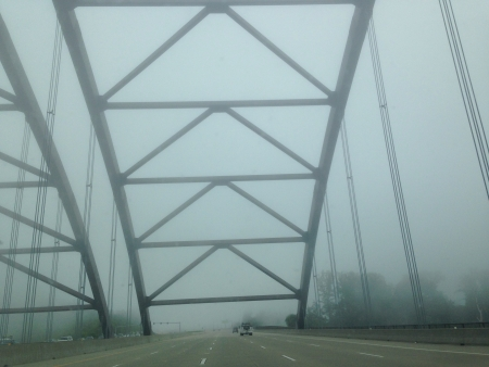 Driving in a foggy weather