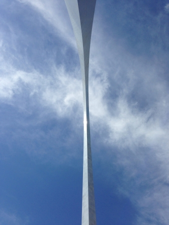 Bottom view of the Arch-St. Louis