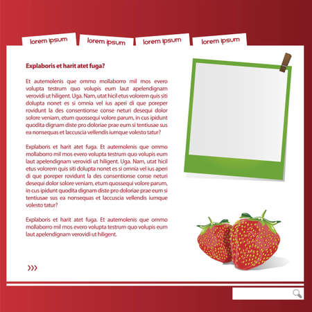 web graphic strawberie