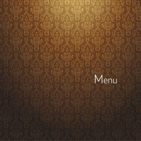menu card design: restaurant background