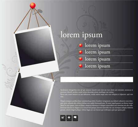 photo board: polaroid frame