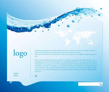 fresh water splash: Wasser