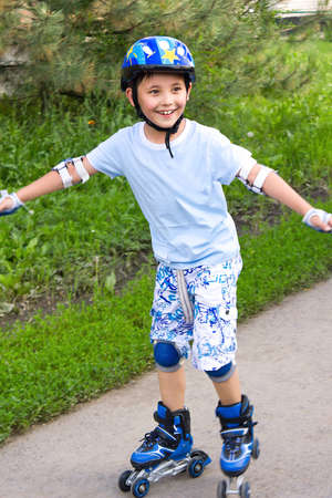 boy on roller skates photo