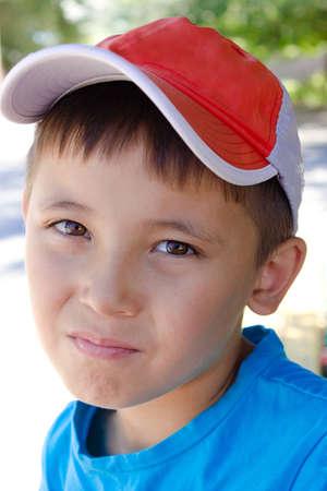 portrait of a young boy Imagens