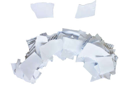 shreds: sad smiley from the shreds of paper