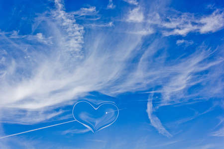 a symbol of pure love in the sky photo