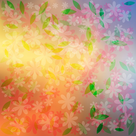 Colorful flowers background.