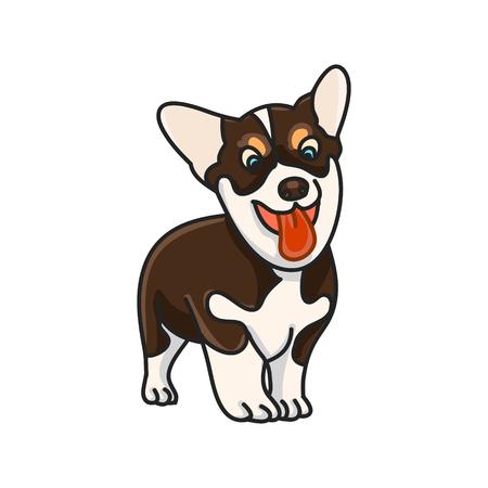 pembroke welsh corgi: Dog breed Corgi on white background, vector illustration