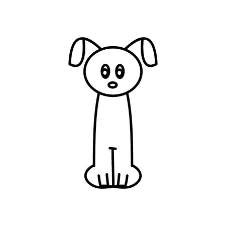 Puppy doodle sketch