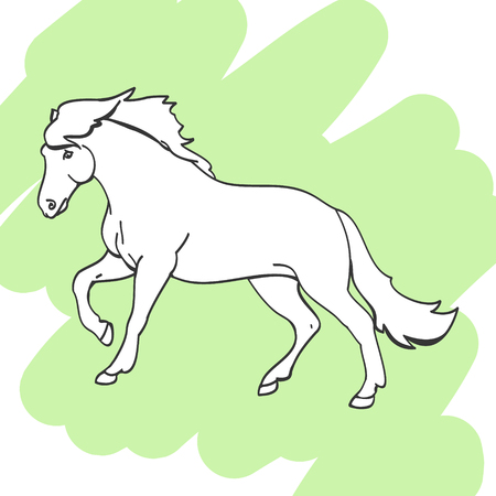 Horse in forward motion
