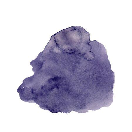 purple Watercolor blot on a white background