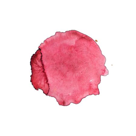 red Watercolor blot on a white background 免版税图像