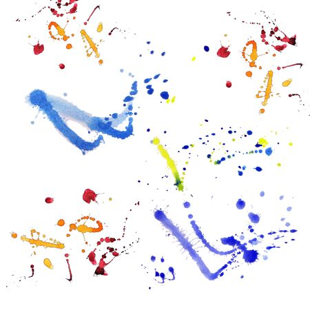 splashes of watercolor on a white background