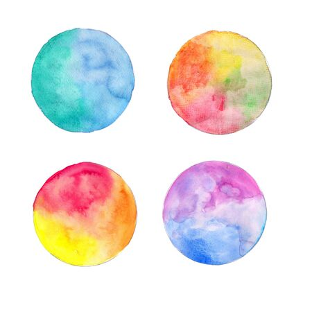 Watercolor blot on a white background