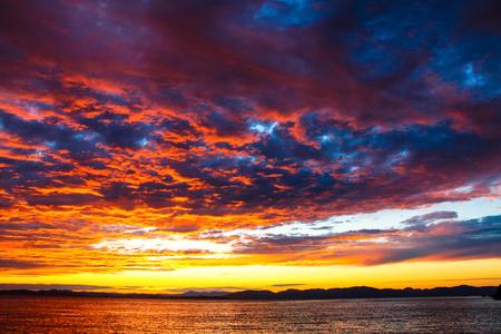 cloud  sea sky sunset  cloudscape  landscape  blue seascape.