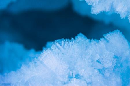 Ice crystals. Stock Photo
