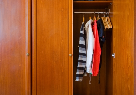 large wooden wardrobe photo