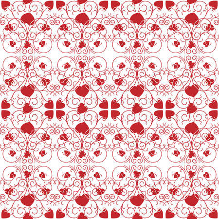 manner: seamless pattern with ornament in the manner of heart and spirals